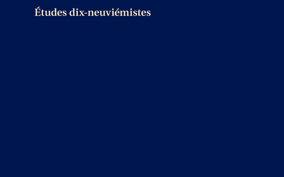 Ière Rencontre des Dix-Neuviémistes (2015)                         « Le jeu dans tous ses états »